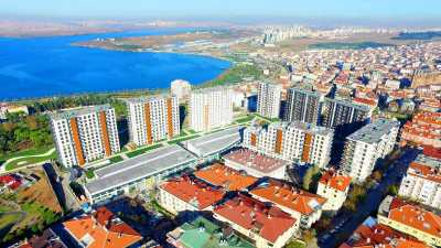 Exterior image - Lakeview ready to move in apartments for sale in installments in Istanbul-Küçükçekmece, Discount offer available - 10001