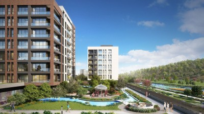 Exterior image - Investment Riverview Apartments for Sale in Installments in Kağıthane-Istanbul next to Axis Mall - 12786