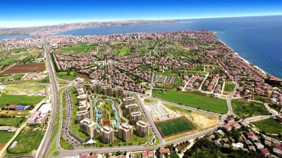 Exterior image - Investment Seaview Apartments for Sale in Büyükçekmece-Istanbul, multiple installment offers available - 16592