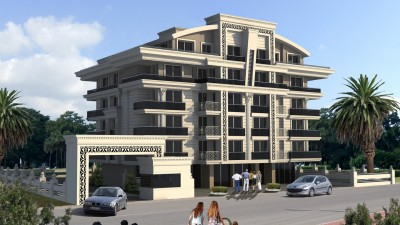 Exterior image - Ready to move in cheap Apartments and Duplexes for sale in installments in Konyaalti-Antalya - 14053