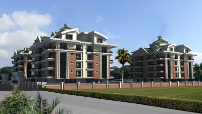 Exterior image - Apartments and duplexes for sale in a residential compound in Hurma-Antalya - 14362