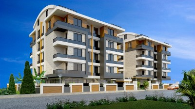 Exterior image - Apartments and Duplexes for sale in installments in a compound in Hurma-Konyaalti-Antalya - 15722