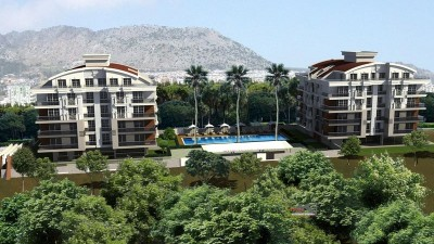 Exterior image - Apartments for sale in installments in a compound in Konyaalti-antalya - 16368