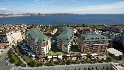 Exterior image - Sea-view apartments with big glass facades for sale in Büyükçekmece-Istanbul - 21808