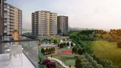 Exterior image - Apartments for sale in residential compound containing mall in Sultangazi-Istanbul - 21979