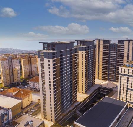 Exterior image - Sea & lake views apartments for sale above mall next to metrobus in Beylikdüzü-Istanbul - 26444