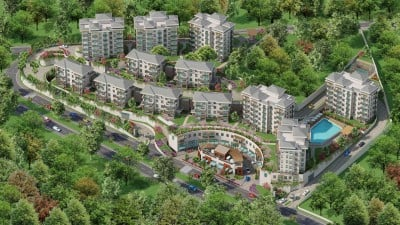 Exterior image - Apartments for sale with wide balconies and natural views in Bahçeşehir-Istanbul - 22067