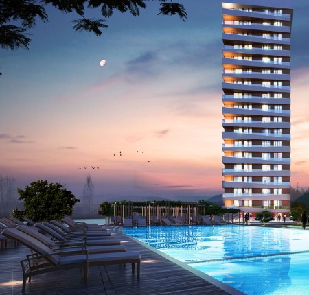 Exterior image - Apartments with ready Tapu for sale near the new metro station in Bağcılar-Istanbul - 22800