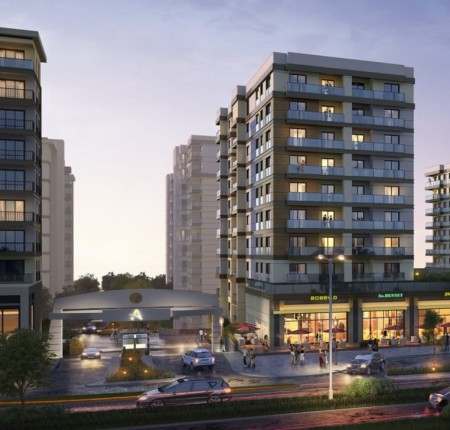 Exterior image - Apartments for Sale in the New Baghdat Street of Küçükçekmece- Istanbul - 23587