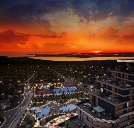 Exterior image - Sea & Lake View Apartments for Sale in 5-Star Complex in Büyükçekmece-Istanbul - 24015