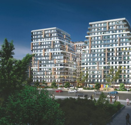 Exterior image - Apartments for sale near the new Metro Line in Kâğıthane-European Istanbul - 24325