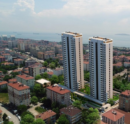 Exterior image - Sea and Princesses Islands view apartments for sale in Kartal-Istanbul - 24552