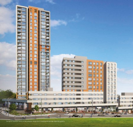 Exterior image - Apartments for sale next to the huge Hayat Park in Bahçeşehir-Istanbul - 24738
